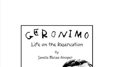 Poster for Geronimo, Life on the Reservation, WhiteFire Theatre, Sherman Oaks, CA.