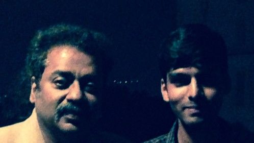 Abhinav Agnihotri with Indian singer Hariharan