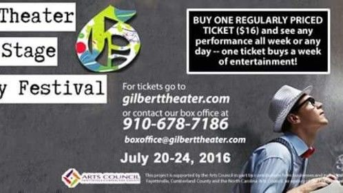 Gilbert Theater Summer Stage Play Festival 2016 poster