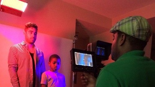 """Working on my first short film - """"THEM"""", with the talented Daniel Gaitin and Chinua Payne"""