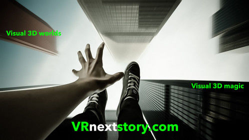 """VRnextstory.com new virtual reality production house, utilizing background in theme park design, 3D environmental design, film special effects on Major feature films,. Have started  major Virtual Reality series that pushes new frontiers on human """"Empathy"""". http://VRnextStory.com"""