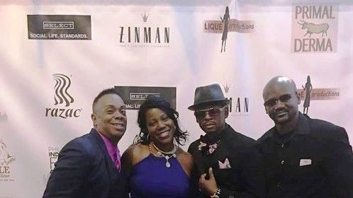 Philadelphia's 1st Annual Independent Film Awards 2016, with fellow actors Robert Shearn III, Kyree Mitchell, & Darrell Shanks