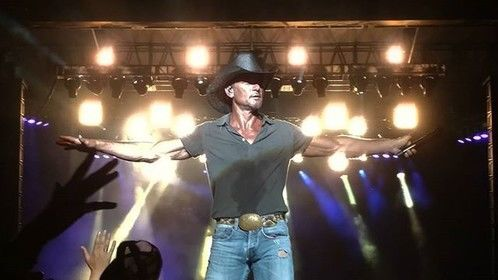 Tim McGraw at Country Stampede. Manhattan Liked it, they Loved it.