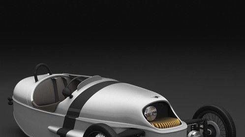 3D Model of Morgan EV3 Electric Three Wheeler Vehicle