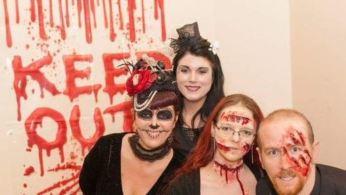 Just a little something I did for a fancy dress night, mine are the ones with blood on them.