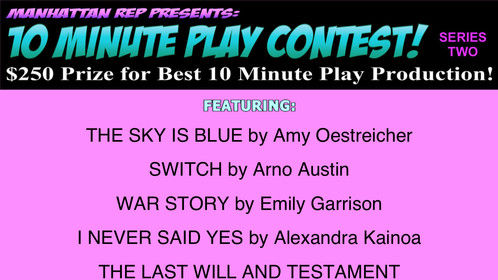 "One of my favorite scenes from IMPRINTS - ""The Sky is Blue"" is part of Manhattan Rep's Short Play Contest - I'd love anyone to come support if they're in New York on August 17th or 20th. Your vote counts! You can get tickets here: http://manhattanrep.com/10-minute-play-contest-series-2-august-2016/"