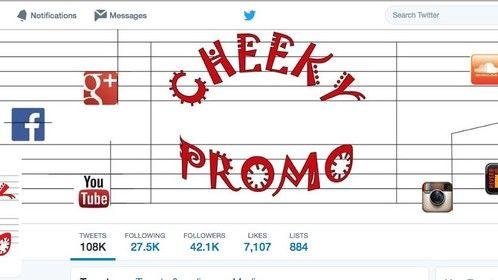 Follow London, UK based music promoter Cheeky promo on twitter https://twitter.com/CheekyPromo