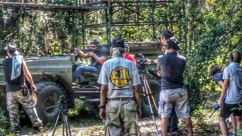 On set recently filming Big Beard Scott Johnson at Kahana's Stunt School.