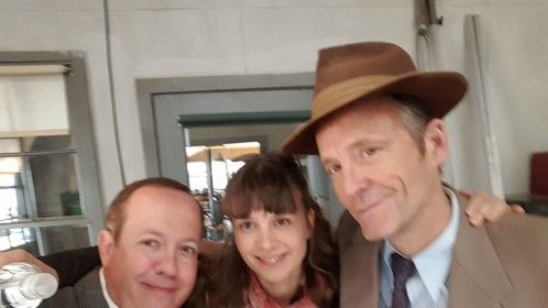 Well my scene in Season Two with John Hickey Benjamin (with German coaching by Katja Herbers) didn't make the final cut but it was a blast.
