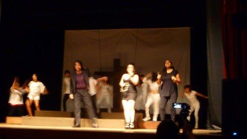 On stage. Jesus Christ Superstar.