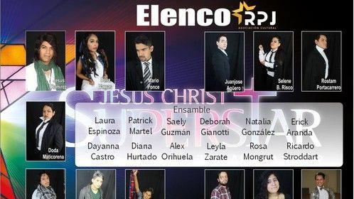 Jesus Christ Superstar cast. I'm in the middle left.
