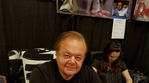 Paul Sorvino with my book Lipstick and Absinthe by Ladyaslan