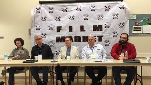 At the San Diego International Kids' Film Festival Panel discussion regarding Screenplay marketing do's and don'ts.  I learned a lot.