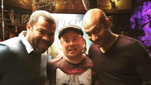 Interviewing Key & Peele for KEANU.  Interview: http://screenanarchy.com/2016/04/interview-key-peele-talk-keanu-thumb-wrestle-talk-cats-and-riot-over-wacky-shirts.html