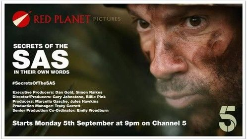 Secrets of the SAS: 9pm on Channel 5, September 5th. UK