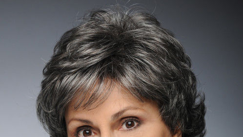 Head Shot with grey wig
