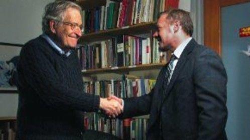 "Tracy Kowalski and Noam Chomsky in ""State of Disunion"" AKA ""The Class Slipper"""