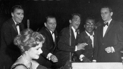 Janie Harvey, now known as Janie McCormick with holding the cue cards at Sands Casino for the Rat Pack in the 60s.