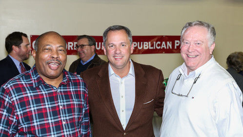 LaMont Johnson, Lt. Governor Forest, Anthony Dowling in October 2015