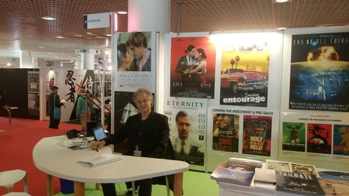 Galloping Films stand at the Marche du Film, May 2016.