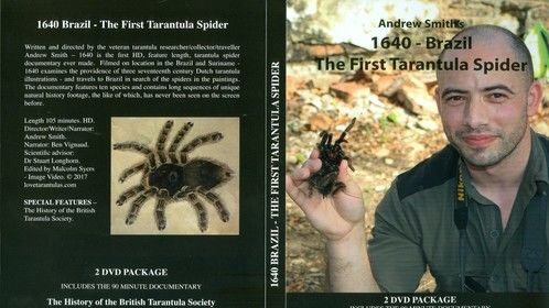 Front cover of our new 2 dvd boxset - 1640 Brazil - The First Tarantula Spider.
