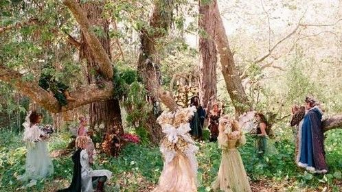 Here in the fairy ring every spring, we shall chant, dance and sing to celebrate the wed-binding of our united queen and king!