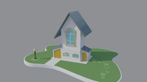 3D House - maya