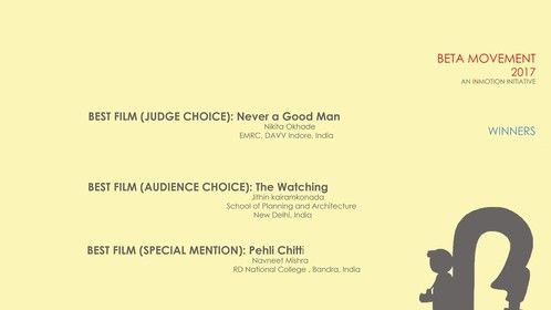 """Our first short film """"Never A Good Man"""" wins its first award! :D Beta Movement-international student film festival's best film judges Choice. It was a great joy working on this film and we hope you enjoyed it just as much as we enjoyed making it! Here's a link to the film. https://www.youtube.com/watch?v=v55mMQKgNOs&t=1s..."""