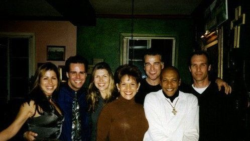 1997-Ian Buchanan's Place with Finola Hughes, Longtime Friend Tracie Hendricks, Valentino Harris, Ian Buchanan, and guests.
