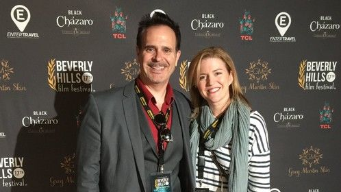 On the Beverly Hills Film Festival Red Carpet with fellow Screenwriter Leanna Adams