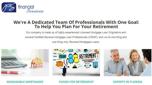 We are PS Financial Services with certified reverse mortgage professionals (CRMP) in the United States. With more than 10 years of experience, we have closed and funded over 300 reverse mortgages. We are licensed reverse mortgage company in New York aiming to find the best product for our clients. Call us today +1 917-983-9125.