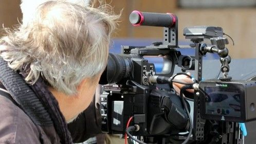Emilio Mandarino on the set.