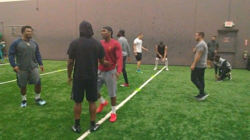 Got to work with Adoree Jackson from USC (who is now on the Titans) and other NFL players and draft picks earlier this year.