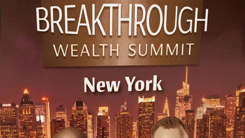 "Thankfully, I bought a VIP ticket two weeks ago and went to the Brooklyn Bridge Marriott to attend the ""Breakthrough Wealth Summit"" last week and I was able to make dozens of wonderful contacts for funding.."