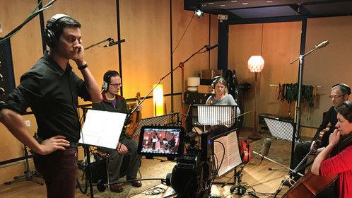 April 2017 String quartet recording session in London, UK.