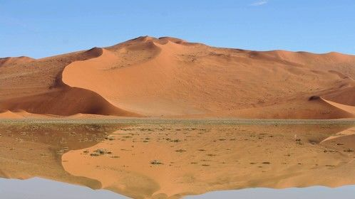 Namib desert - day after 500 year storm.