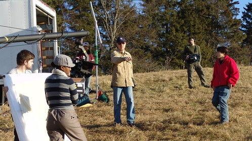 """On the set of """"Leaving Ashland"""""""