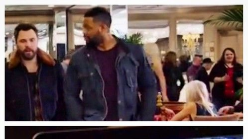 "Ashley Marie Lewis with Patrick John Flueger and LaRoyce Hawkins on NBC's ""Chicago P.D."" - Episode 3x13 - ""Hit Me"" (December 2015)."