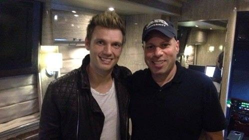 Steve Okrepky on set with Nick Carter from The Back Street Boys - Celebrity Motor Homes show