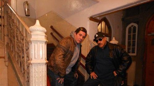 Actor Alfredo Romeo Suarez and Director Juan Shamsul Alam  on set of Zookeeper