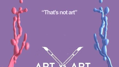 Here's the poster's second version of our short film Art Vs. Art!