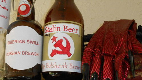 The Bolshevik Brew -- favorite drink of Communists. Packs a punch like a Moscow mule.
