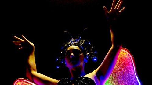 Queen of the Night, GLOW Exhibition, Santa cruz Museum of Art & History