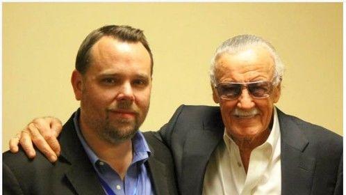 Brendan Davis and Stan Lee