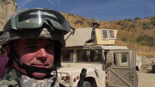 Acting as a Humvee Gunner in Indivisible