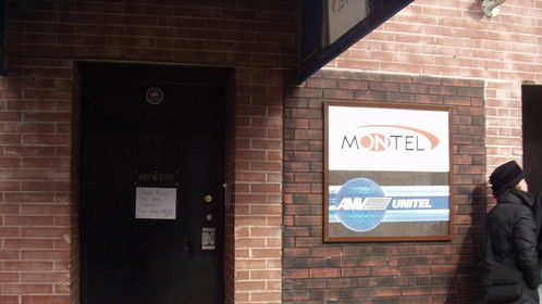 Walking in to do an interview for Montel Williams show.