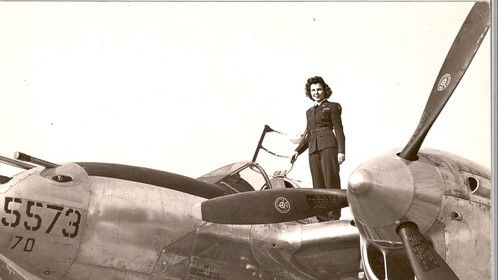 Dorothy on a P-38 Lightning she was delivering as a Ferry Pilot in WWII. She just turned 101 years old.