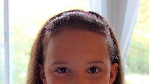 Natalie Creek with straightened hair