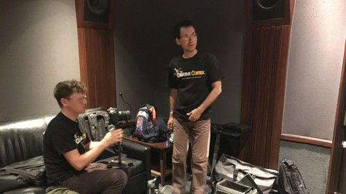"KKFOS recording sessions at ""The Bridge Recording Studio"" in Glendale, CA."