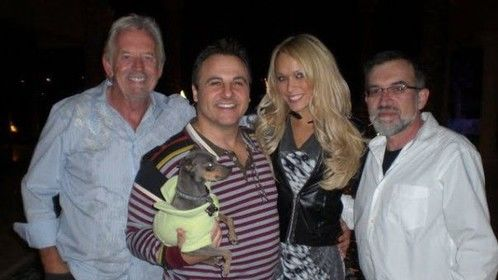 With Playboy photographer Arny Freytag, Gavin Maloof, Playboy Playmate Holley Dorrough at Gavin's house in Las Vegas.